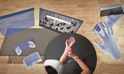 TapID allows for extremely precise free-hand input in virtual spaces.